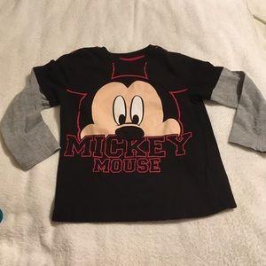 Disney Mickey Mouse long sleeve shirt Boys 5T GUC